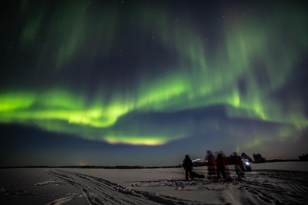 Aurora in Lapland , northern lights in Rovaniemi- Visit Lapland