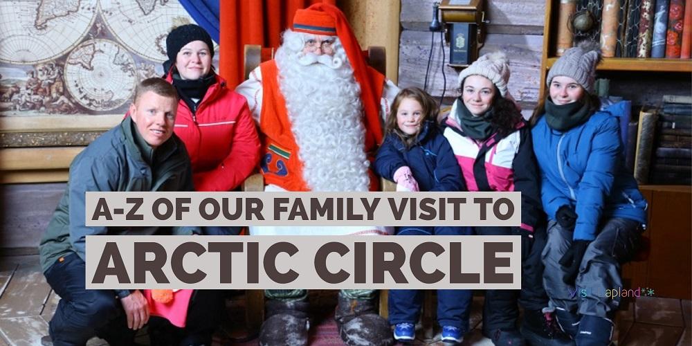 Family visit to Lapland Santa hometown Rovaniemi Finland