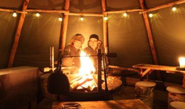 Lappish traditional evening Sauna