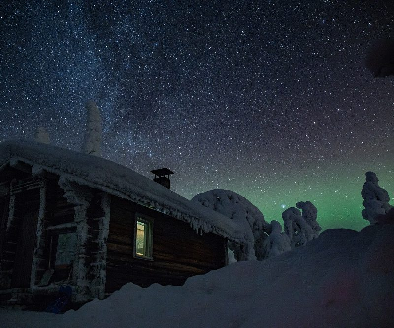 Magical Night Riisitunturi & Northern Lights in Lapland Finland