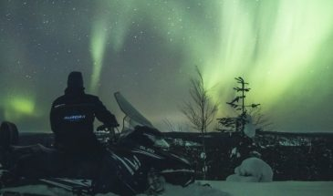 Northern lights safari by snowmobile Rovaniemi