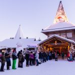 Santa Claus village tourists - Rovaniemi napapiiri Lapland
