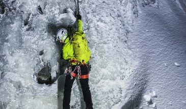 ice climbing in Luosto
