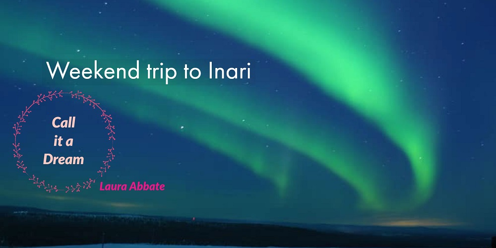 Aurora night and dream trip to Inari Lapland northern lights in the sky