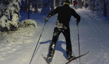 Cross Country Ski Adventure Rovaniemi under the snowy winter weather of Finnish Lapland