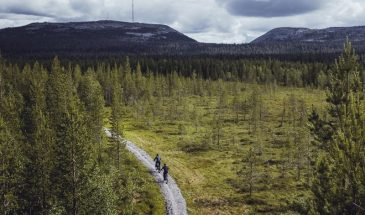 Electric Fatbike Tour to the Amethyst Mine in Luosto Lapland summer weather and nature