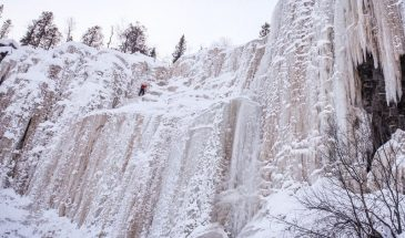 Korouoma park & Frozen waterfall in posio lapland Finland winter
