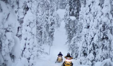 Ruka Snowmobile safari winter lapland kuusamo snowy weather