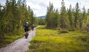 Tour de pyhä - canoeing hiking and mountain biking in pyhä lapland summer autumn nature