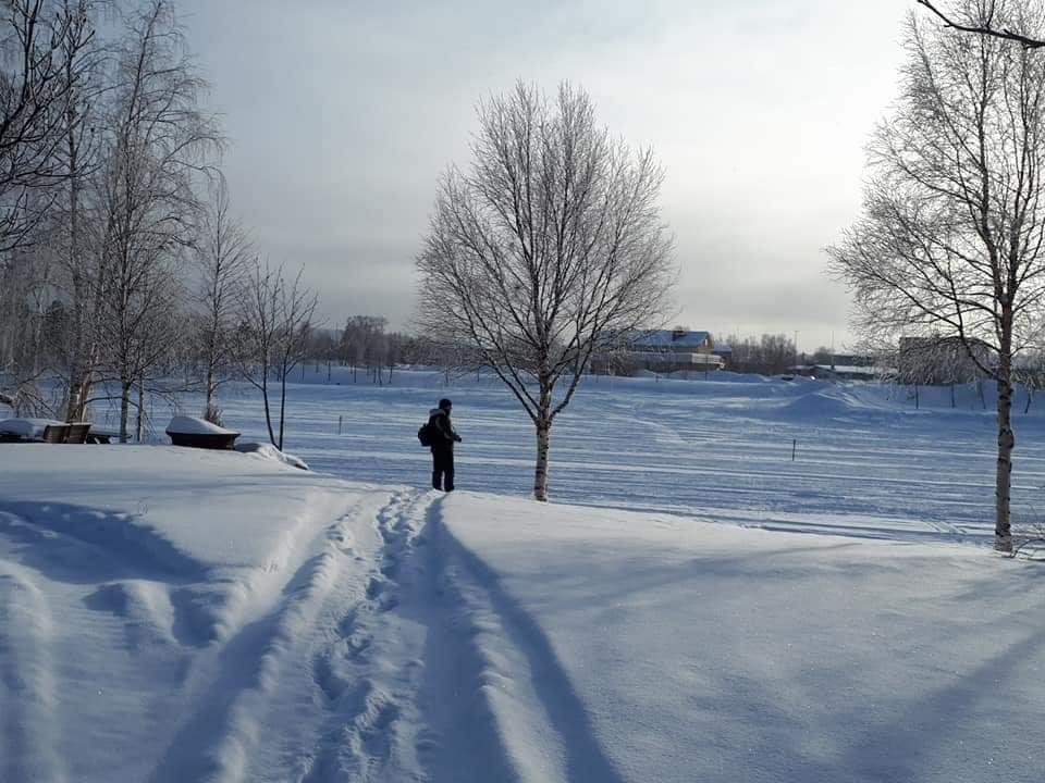 Winter outdoor inari Lapland