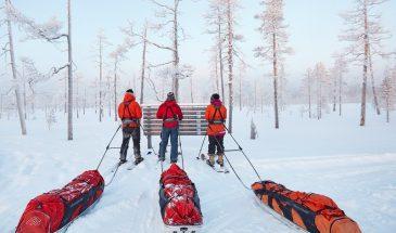 altai ski tour in pyhä luosto lapland snowy weather winter