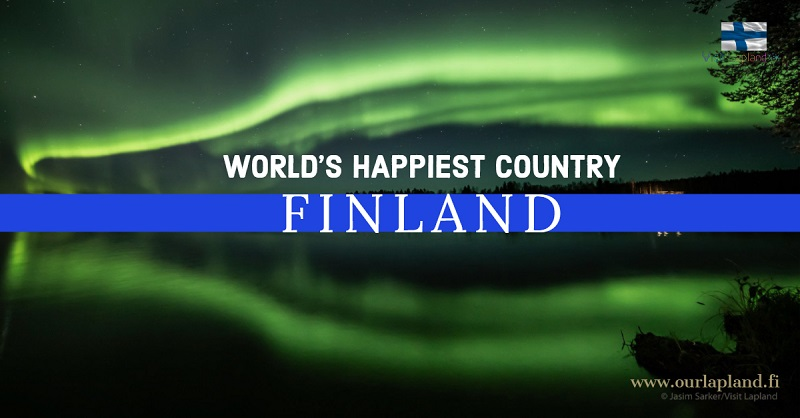 Happiest country of the world is Finland according to the World Happiness report 2019