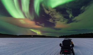 Chasing Auroras by Snowmobile Sleigh with Picnic- Access Lapland- rovaniemi winter
