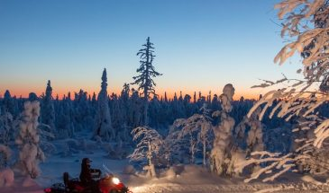 Evening Escape – Snowmobile safari and campfire