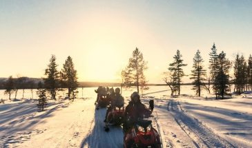 Family Combo: Snowmobile, Husky & Reindeer Safari