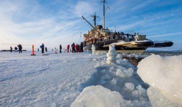 Icebreaker Sampo with snowmobile safari Kemi Rovaniemi lapland