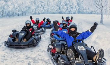 Ice Combo: Karting on Ice and Snowmobiling