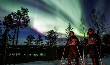 Northern Lights skiing adventure Beyond Arctic - Visit Lapland