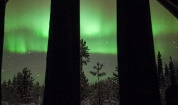 Overnight in an Aurora Wilderness Cabin- polar lights tours- kittilä- finland lapland winter