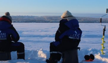 Relaxing Rovaniemi Ice Fishing Experience