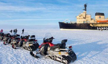 Snowmobile safari to Icebreaker Sampo