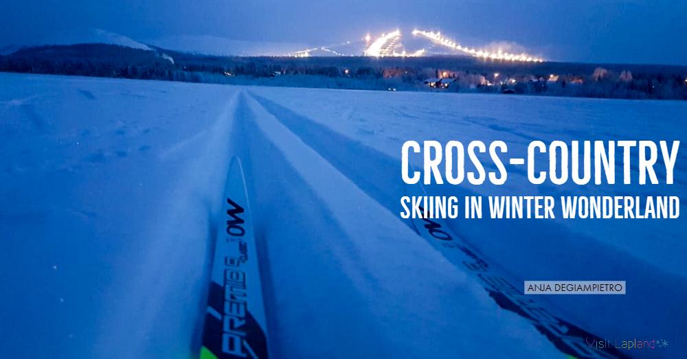 Cross country skiing in Ylläs äkäslompolo Lapland winter