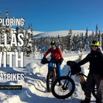 Fatbike riding in Ylläs - Finnish Lapland in winter