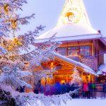 Santa Claus village rovaniemi Lapland Finland arctic circle winter