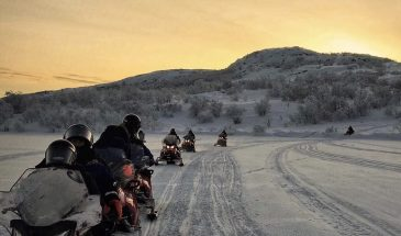 Snowmobile Safari Along the River Valley
