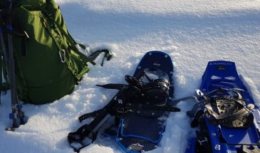 Snowshoeing and Saunayoga