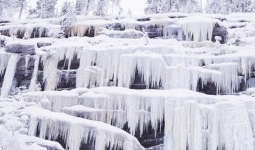 Explore the Frozen Waterfalls of Korouoma