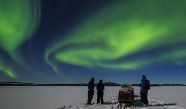 Aurora Hunting Safari to Lake Inari with Dinner from Ivalo