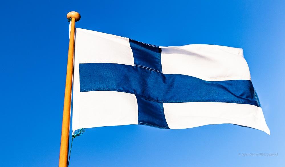 Finland Flag- Visit Lapland By Jasim Sarker