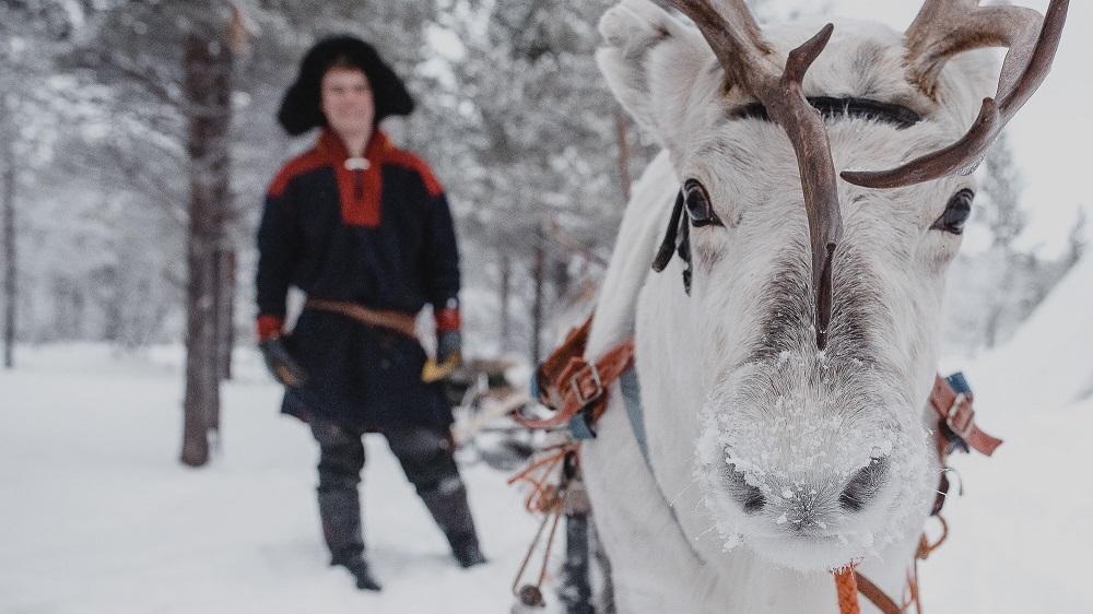 Visit Lapland Reindeer ride in Utsjoki Finland