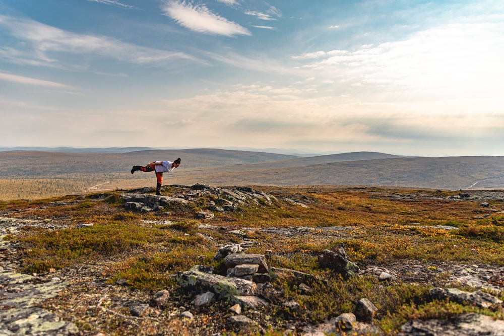Yoga in the fells of Lapland
