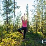 Yoga in the nature in Lapland