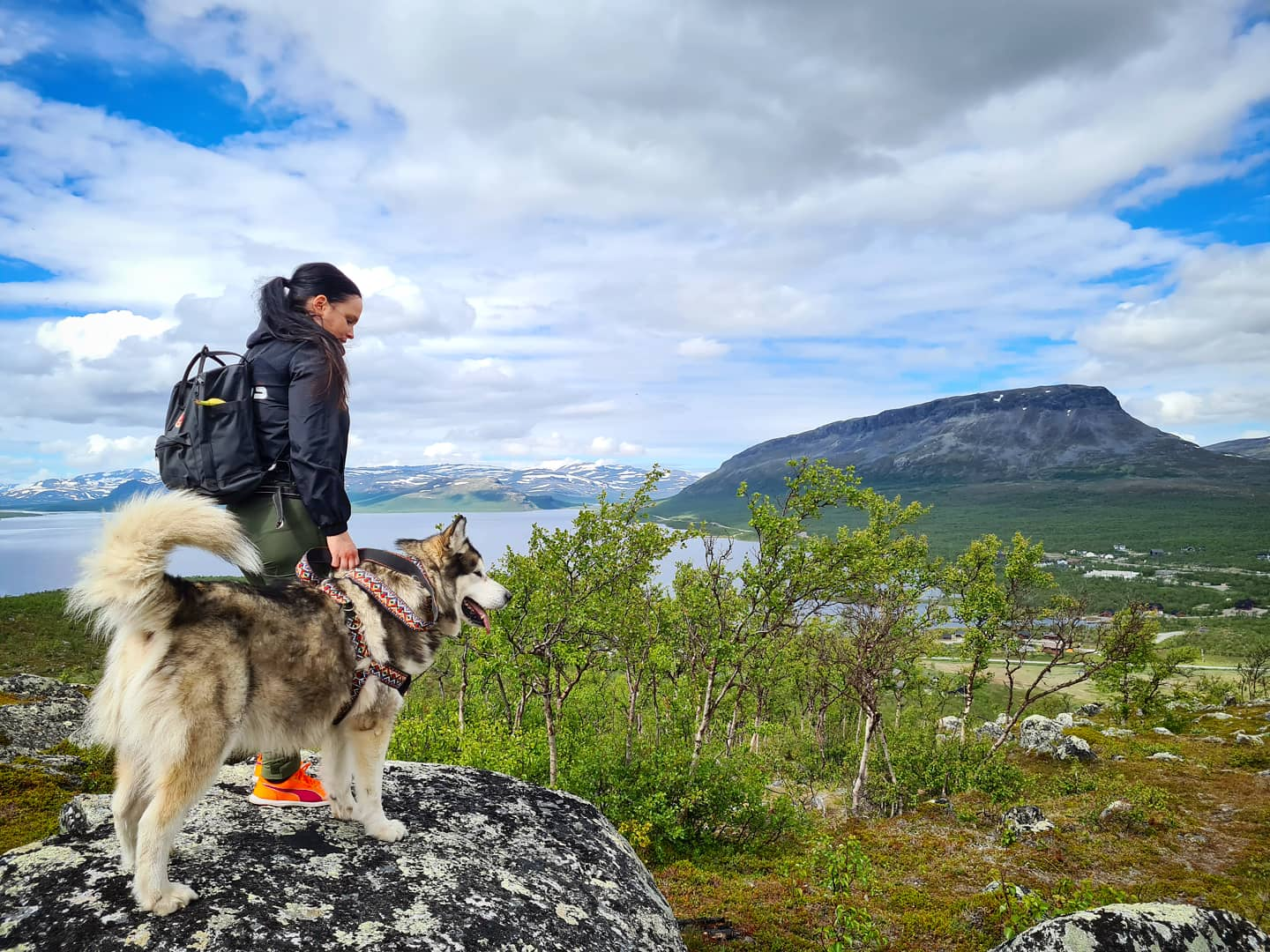 Summer hiking in Finnish Lapland- On the top of Salmivaara, Kilpisjärvi by Maiju Wallenius