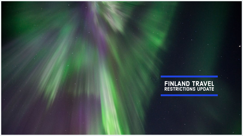 Finland travel restrictions update winter aurora visit Lapland