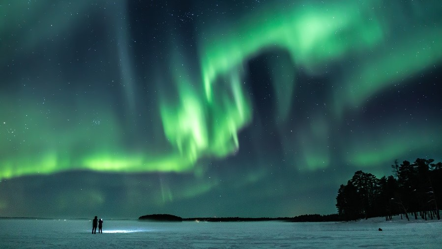 aurora dream in Finnish Lapland- Northern lights Rovaniemi arctic circle by Jasim Sarker
