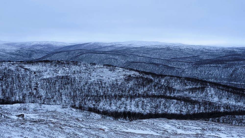Winter in Finnish Lapland Utsjoki