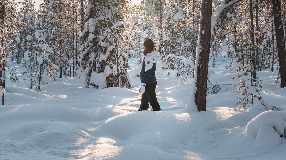 Hiking in Rovaniemi Lapland Vikaköngäs