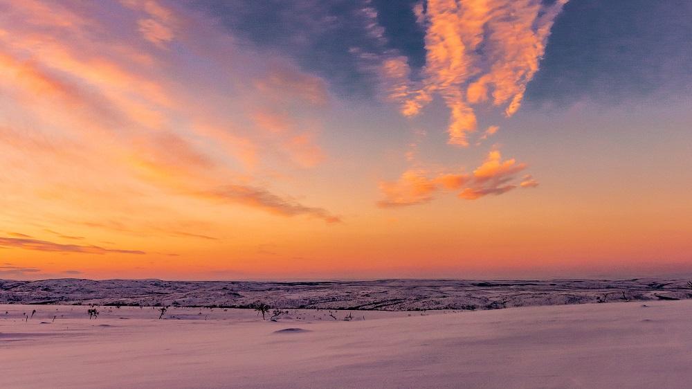 Arctic sunset in Nuorgam Utsjoki Finland By Jasim Sarker