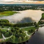 Summer in rovaniemi arctic circle Lapland Finland Kemijoki