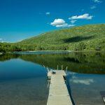 Sunny summer lake in Lapland utsjoki Finland